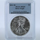 2011-W $1 Silver American Eagle 1 oz 99.9% Pure Burnished Uncirculated PCGS MS69