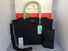 NWT Authentic Kate Spade Black Blake Avenue Taden BABY Bag Diaper Mom Tote Purse