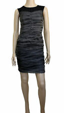 D&G DOLCE GABBANA GRAY RUCHED BODYCON DRESS
