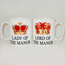 Lord And Lady Of The Manor 2 Mug Set Mugs Can Personalise Wedding Gift Pair