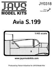 Jays 1/48 Vacform Canopy JY0318 Avia S.199 Canopy
