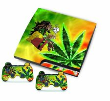 Colorful Leaf for PlayStation 3 PS3 Slim Console Controller Custom Stickers Skin