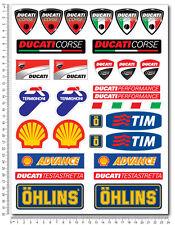 DUCATI Sponsors aufkleber set 24x32cm blatt 31 stickers 848 999 1098 1199