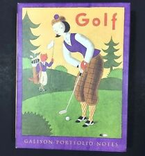 Golf Notecards Greg Clarke Galison Portfolio Notes 12 Cards Envelopes Complete