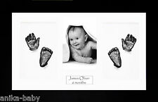 New Large Baby Twins Gift Casting Kit Hand Foot Casts Black 3D Display Frame