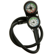 TUSA - Plantina Twin Scuba Diving Gauges - 400 Bar Pressure and Depth - SCA-230T