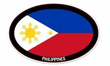 "Philippines Flag Oval car window bumper sticker decal 5"" x 3"""