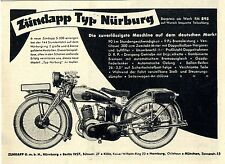 Zündapp Nürnberg Zündapp Typ Nürburg Die zuverlässigste Historische Annonce 1929