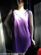 DESIGNERS REMIX COLLECTION BY CHARLOTTE ESKILDSEN ROBE DEBARDEUR VIOLET M 38/40