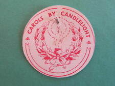 Carols by Candlelight Appeal Card Badge