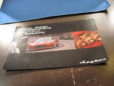 Spyker  sportscars color postcard flyer
