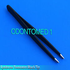 "New 3.5"" Eyebrow Tweezers SLANTED Precision Tip - SOLID CLASSIC Design"