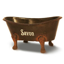 Seifenschale Badewanne braun Metall Savon, Shabby Retro, Fa. Natives