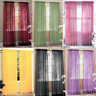 1x Thin Voile Tulle Decal Drape Panel Sheer Scarf Valance Window Curtain Divider