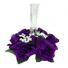 Candle Ring Rings ~ PURPLE LAPIS ~ Silk Wedding Flowers Centerpieces Unity Decor