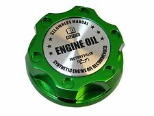 GREEN SYNTHETIC BILLET ENGINE OIL CAP FOR FORD 6.0L 7.3L TURBO DIESEL SL