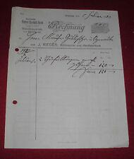 rechnung alt antik j.rieger schlosserei herd fabrikant waldsee herde 1920 papier