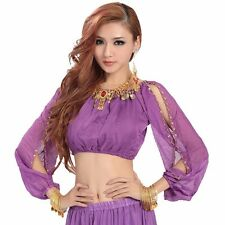 Lantern Blouse Long Sleeve Fancy Top Belly dance Top for chest 29-42 Inch