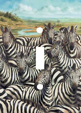 ZEBRA FAMILY GATHERING LIGHT SWITCH PLATE COVER