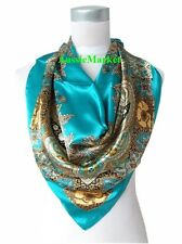 1 x ladies scarf shawl wrap silk satin woman cover 90cm square fashion scarves