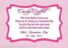 Personalised Girl Communion Candy Buffet Table Sign Design 2