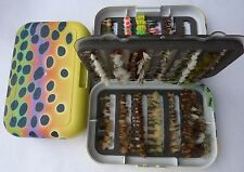 Ultimate Dry Flies & Nymphs Collection * Trout Fishing * 24 Dozen with Fly Box