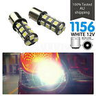 2PCS 1156 BA15S White 18 SMD LED Car Break Reverse Backup Tail Light Bulbs P21W