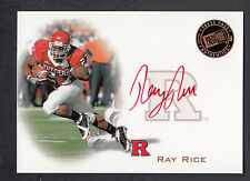 Ray Rice 2008 Press Pass Rookie Autograph Red Ink On Card Auto Rutgers