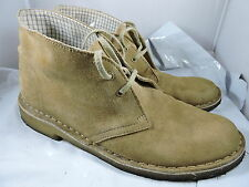 Clarks Originals Desert Boots Tan Beige Suede Leather Ankle Boots Mens Sz. 9 M