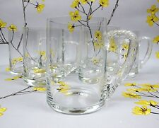 Set of 6 vintage good quality crystal glass BEER TANKARDS STEINS MUGS GLASSES.