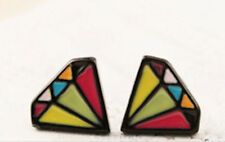 new cartoon colour diamond stud earring harajuku kawii statement butterfly gift