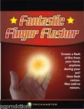 FANTASTIC FINGER FLASHER KIT Flint Pull Fire Magic Trick Flash Cotton Hand Prop