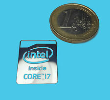 INTEL CORE i7 HASWELL  METALISSED CHROME EFFECT STICKER AUFKLEBER 16x21mm [42]