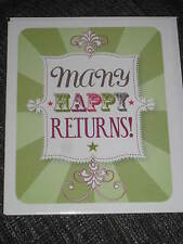Many happy returns, Blank greeting card, green, proud to be loud, birthday wish
