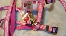 East Side Collection Pink Gingham Dog Lead & Harness, Sets, 20 to 28-Inch