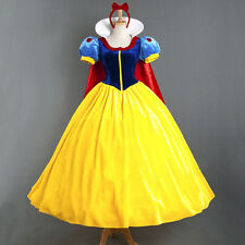 Fashion Adult Party Fancy Dress Disney Snowwhite Princess Dress Cosplay Costume