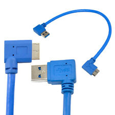 USB 3.0 A Male 90 Degree Left Angle to  Micro B 10P Right Angle Short Cable 30CM