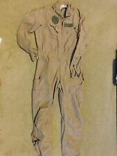 Army Tan Nomex CVC Combat Crewmen Coverall Size Medium - Long