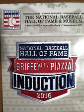 MLB Official Hall of Fame Induction Patch 2016 Ken Griffey Jr & Mike Piazza