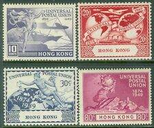 HONG KONG : 1949. Stanley Gibbons #173-76 U.P.U. Very Fine, Mint NH. Cat £65