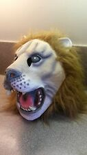 FULL HEAD RUBBER LATEX LION HALLOWEEN MASK LIFELIKE