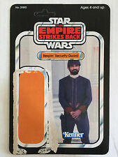 Star Wars Empire Strikes Back Bespin Security Guard Vintage Card Back 1980