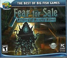 FEAR FOR SALE MYSTERY OF MCINROY MANOR Hidden Object PC Game CD-ROM NEW