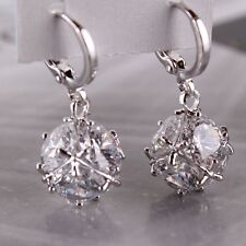 Dangle lovely 18k white gold filled white sapphire brand new earring
