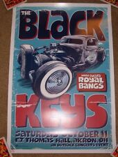 THE BLACK KEYS concert gig tour poster 10-11-08 AKRON OHIO 2008 art Greulich