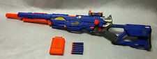 NERF Nstrike BLUE LONGSTRIKE CS-6  DART GUN BOLT SNIPER RIFLE  - Elite