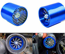 Blue Car Air Intake Fuel Gas Saver Single Fan Engine Enhancer Turbo Turbine Kit