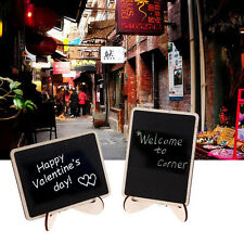 1pc Mini Blackboard Chalkboard With Stand Place Card Wordpad Rectangle Angled CX