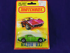 Extremely Rare Matchbox Superfast No31 Mazda RX7 Green USA Market