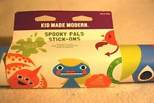 WALL DECALS  Monster Spooky Stick-Ons Removable Re-Usable  Kid Made Modern NEW